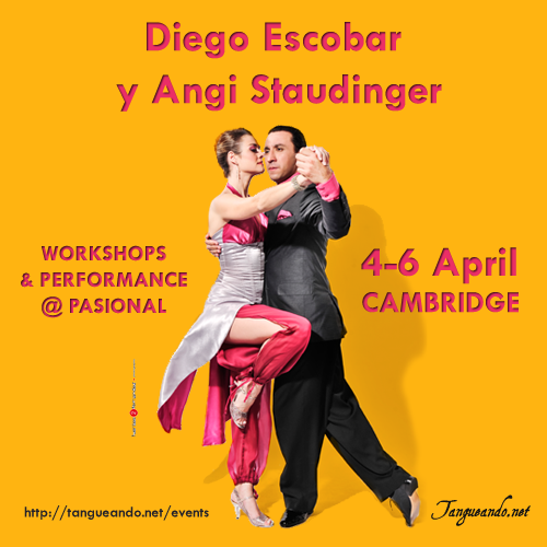 Cambridge Tango - Diego Escobar and Angi Staudinger in Cambridge by Tanguando.net