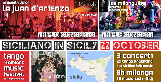 Siciliano in Sicily - Tango & Folklore Music Festival - 22 October 2017