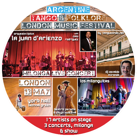 Argentine Tango & Folklore Music Festival - London 13 May 2018 by Tangueando.net