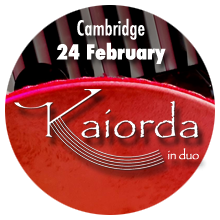 Kaiorda in duo - Music from Southern Italy - Live Concert in Cambridge by Tangueando