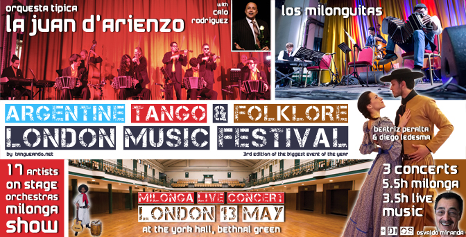 Argentine Tango & Folklore London Music Festival - 13 May 2018